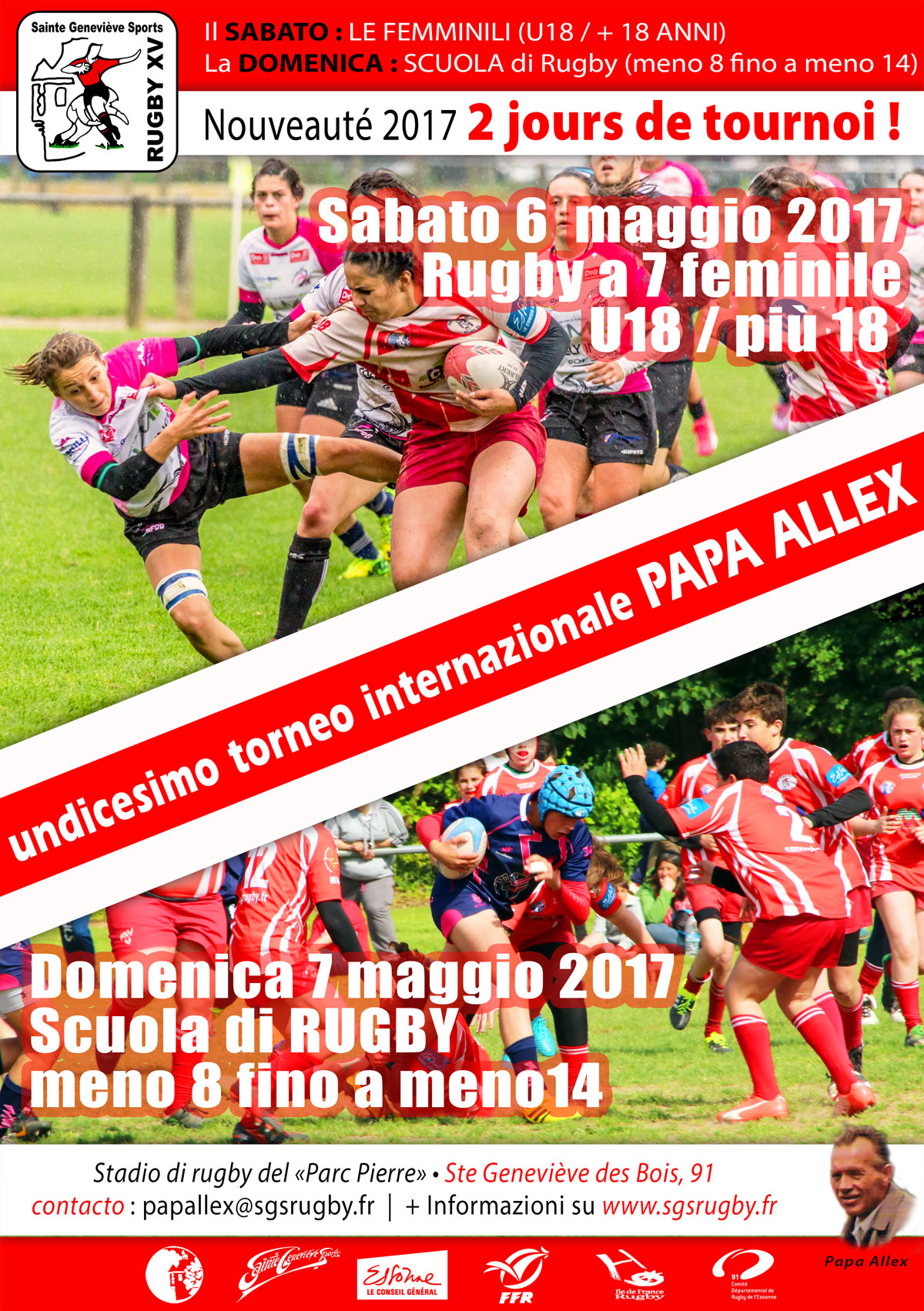 Affiche tournoi Papa Alex 2017 w it