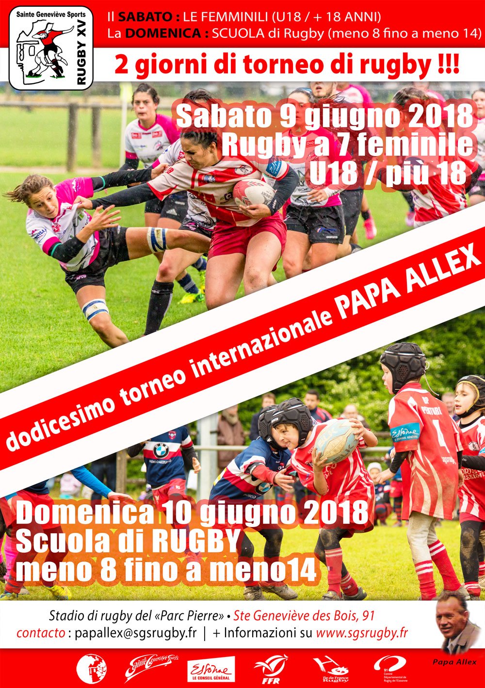 Affiche tournoi Papa Alex 2018 it