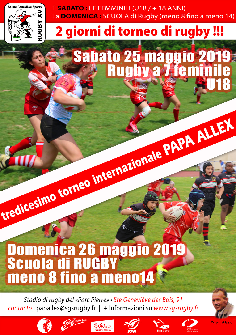 Affiche tournoi Papa Alex 2019 it