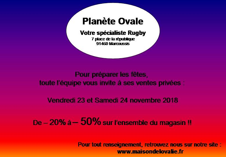 ventes privees planete ovale marcoussis