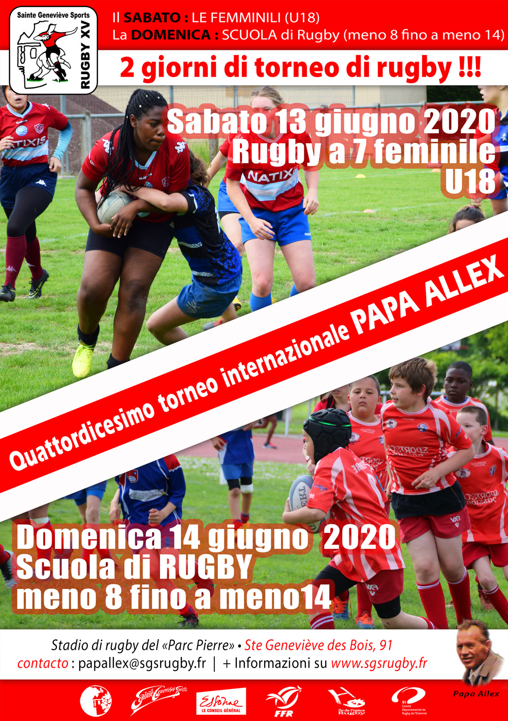 Affiche tournoi Papa Alex 2020 it